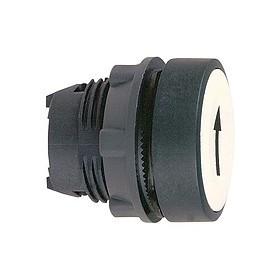 Tête de bouton poussoir - Ø22 - Blanc - Flèche haute