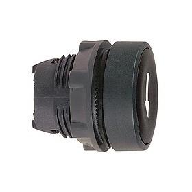 Tête de bouton poussoir - Ø22 - Noir - Flèche bas