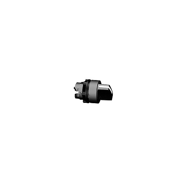 Tête de bouton tournant - 2 positions - Ø22 - Noir
