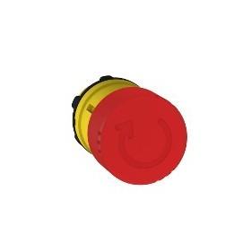 Tête de arrêt d'urgence Ø 30 - tourner pour déverrouiller - Ø22 - rouge