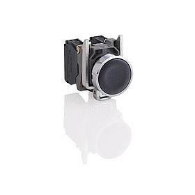 Bouton-poussoir noir Ø22 - à impulsion affleurant - 1F