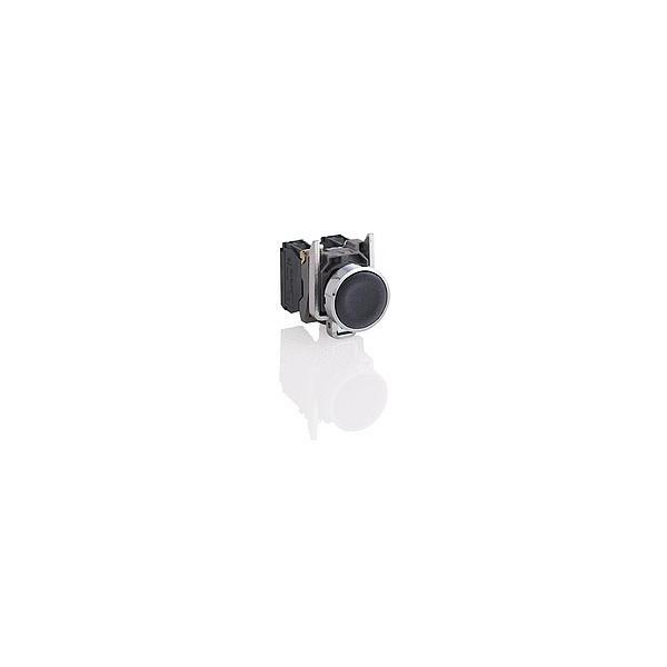 schneider xb4ba21 bouton poussoir noir 22 impulsion affleurant 1f. Black Bedroom Furniture Sets. Home Design Ideas