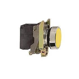 Bouton-poussoir jaune Ø22 - à impulsion affleurant - 1F