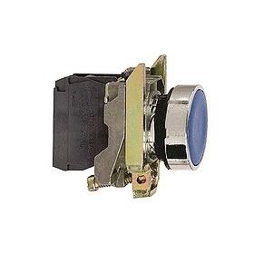Bouton-poussoir bleu Ø22 - à impulsion affleurant - 1F
