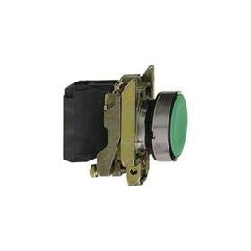 Bouton-poussoir vert Ø22 - à impulsion affleurant - 1F