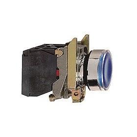 Bouton-poussoir lumineux bleu - 24 V - 1O+1F