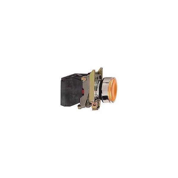 Schneider xb4bw35m5 bouton poussoir lumineux orange - Bouton poussoir lumineux ...