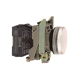 Voyant rond Ø22 - IP66 - blanc - LED intégrée - 24 V