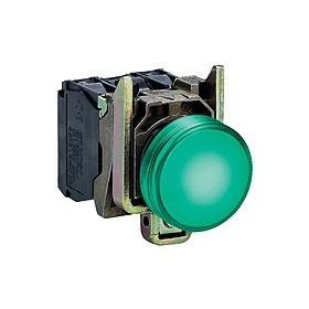 Voyant rond Ø22 - IP66 - vert - LED intégrée - 24 V