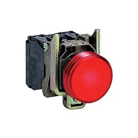 Voyant rond Ø22 - IP66 - rouge - LED intégrée - 24 V