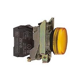 Voyant rond Ø22 - IP66 - orange - LED intégrée - 24 V