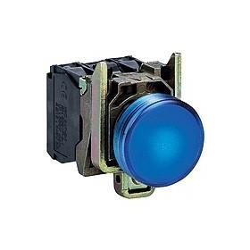 Voyant rond Ø22 - IP66 - bleu - LED intégrée - 24 V