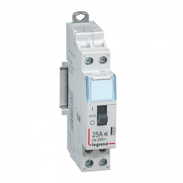LEGRAND 412501 - Contacteur domestique silencieux - 230 V~ - 2P - 250 V~/25 A - 2 F