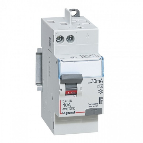40A 30mA Type A LEGRAND DX3 Interrupteur différentiel vis/auto - 411638