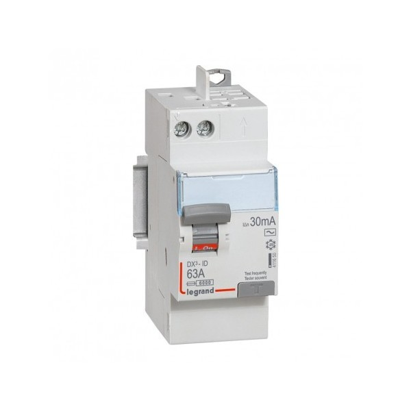 63A 30mA Type AC LEGRAND DX3 Interrupteur différentiel vis/auto - 411650