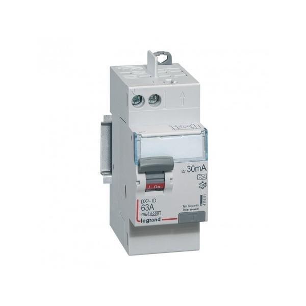 63A 30mA Type A LEGRAND DX3 Interrupteur différentiel vis/auto - 411651