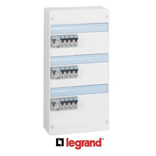 LEGRAND Tableau électrique pré-équipé 3 rangées ID DX3