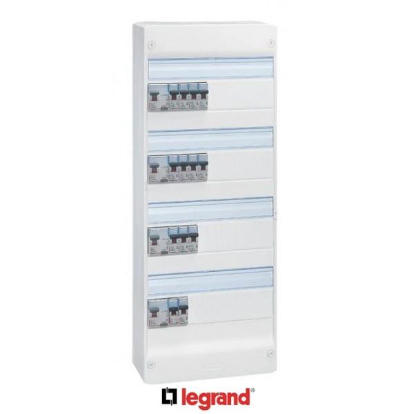 LEGRAND Tableau électrique pré-équipé 4 rangées ID DX3